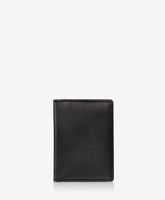 GiGi New York Card Case with ID Holder, Black Vachetta Leather