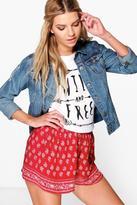 Boohoo Hannah Woven Print Flippy Shorts