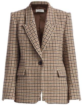 Etoile Isabel Marant Kerstin Houndstooth Wool Blazer Jacket