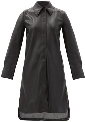 Stand Studio Remi Faux-leather Shirt Dress - Black