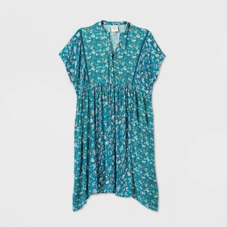 Knox Rose™ Woen's Floral Print Kiono Short Sleeve Dress - Knox RoseTM