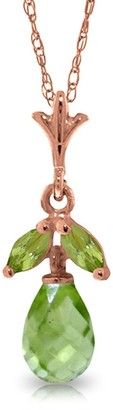 Overstock 14K Rose Gold Peridot Necklace Gemstone Class Limited Edition