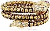 """Betsey Johnson Luminous Betsey"""" Snake Faceted Stone Coil Bracelet"""