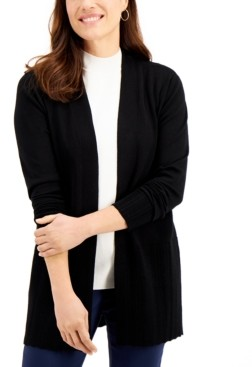 Karen Scott Ribbed Cardigan, Created for Macy's