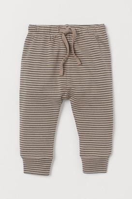 H&M Cotton Jersey Pants - Brown
