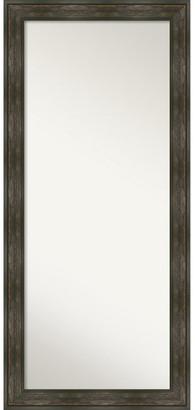 Amanti Art Rail Rustic Char Full Length Floor Leaner Mirror