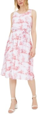 INC International Concepts Inc Chiffon Toile Midi Dress, Created for Macy's