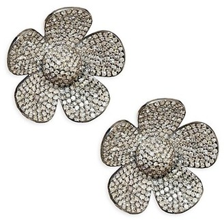 Nina Gilin Flower Diamond Stud Earrings