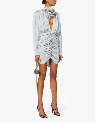 Magda Butrym Ruched silk mini dress