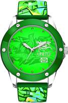 Ecko Unlimited Men's The Tran Green Dial Watch E09530G6 with a Green Silicone Strap