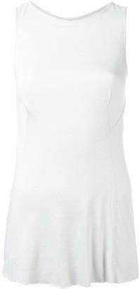 Rick Owens Lilies frill hem blouse