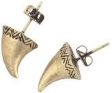 Engraved Thorn Stud Earrings
