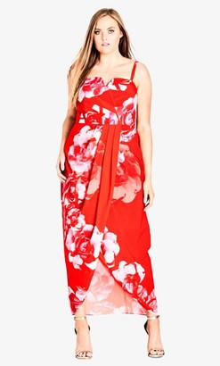 City Chic Tango Floral Maxi Dress