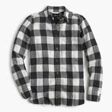 J.Crew Petite boy shirt in charcoal buffalo plaid