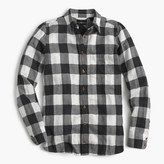 J.Crew Tall boy shirt in charcoal buffalo plaid