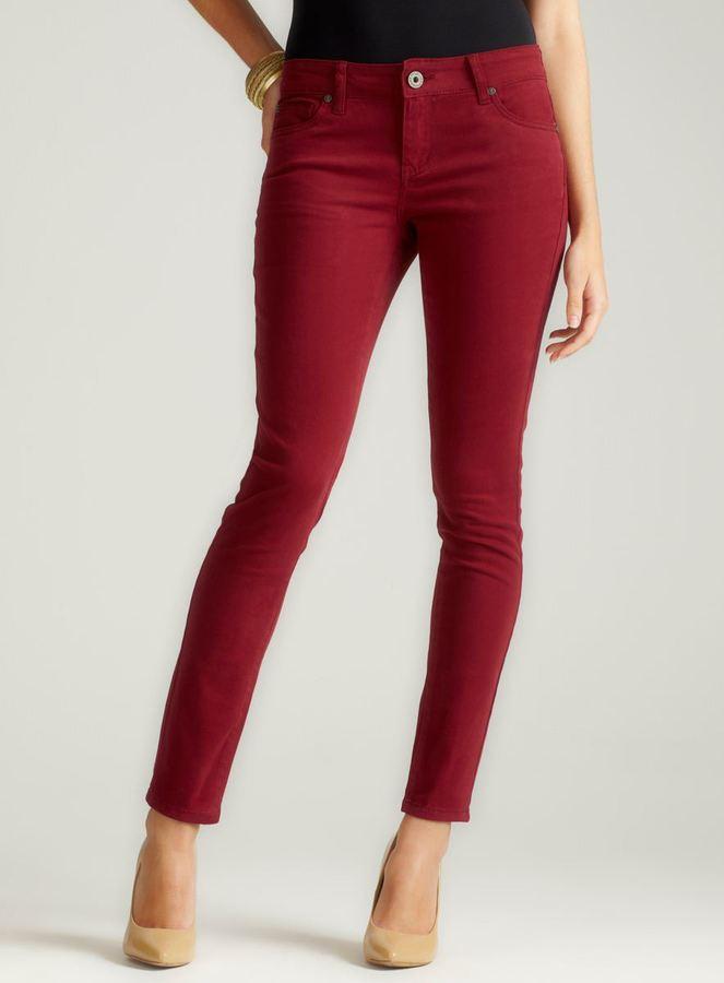 Velvet Heart Skinny Jean In Oxblood