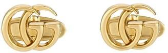 Gucci 18kt yellow gold GG Running cufflinks