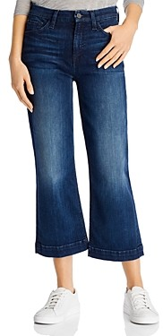 7 For All Mankind Jen7 by Cropped Wide-Leg Jeans in Cambridge Dark