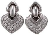Bulgari BVLGARI Doppio Cuore 18k White Gold and Diamond Earrings