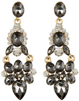 Cara Accessories Large Hinged Drop Earrings