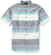 Giorgio Armani Stripe Short-Sleeve Woven Shirt