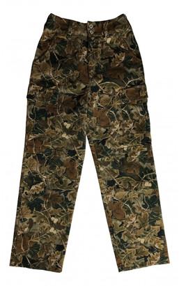 Heron Preston Brown Cotton Jeans