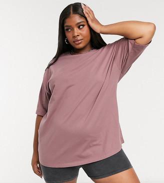 ASOS DESIGN Curve ultimate oversized T-shirt in mink