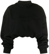 Alexander Wang cropped mock neck sweatshirt