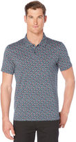 Perry Ellis Short Sleeve Floral Printed Polo