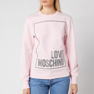 Love Moschino Women's Logo Box Sweatshirt