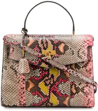 Versace crocodile embossed bag