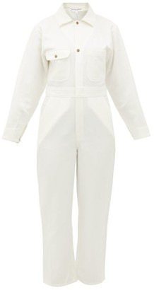 Apiece Apart Totumo Linen-blend Jumpsuit - Cream
