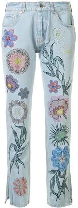 Filles a papa Floral Embellished Jeans