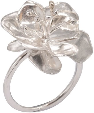 Lily Flo Jewellery Apple Blossom Ring In Sterling Silver