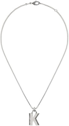 """Gucci Silver """"K"""" letter necklace"""