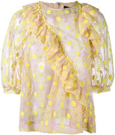 Simone Rocha floral embroidered blouse - women - Cotton/Nylon/Polyester - 6