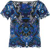 Alice + Olivia Alice+Olivia - floral embroidered blouse - women - Polyester/Spandex/Elastane - L
