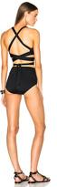Proenza Schouler Wrap Triangle Bra Bikini Set in Black.