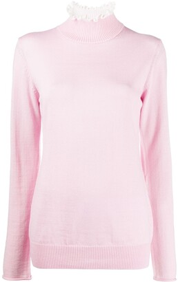 Undercover Ruffle-Neck Long Sleeved Top