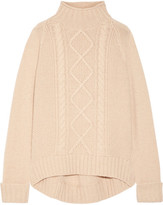 Theory Cable-knit Cashmere Sweater - Sand