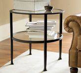 Pottery Barn Tanner Round Side Table - Bronze finish