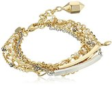 "Fragments for Neiman Marcus Multi Chain and Bars Bracelet, 7"" + 1"" Extender"
