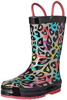 Western Chief Kids' Girls' Waterproof Easy-on Printed Rain Boot