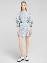 Calvin Klein Floral Print Organza Shirt Dress