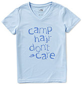 The North Face Little/Big Girls 5-18 Reaxion Camp Hair Don t Care Short-Sleeve V-Neck Graphic Tee