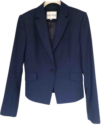 Reiss Navy Wool Jacket for Women