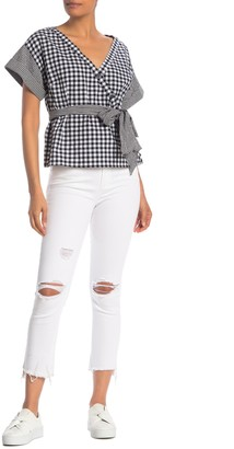 Rachel Roy Collection Distressed High Rise Skinny Jeans