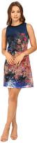 Christin Michaels Scarlett Printed Lace Dress