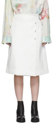 Marni White Patent Button Skirt
