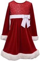 Bonnie Jean Girl's 7-16 Sequin Sparkle Velvet Dress